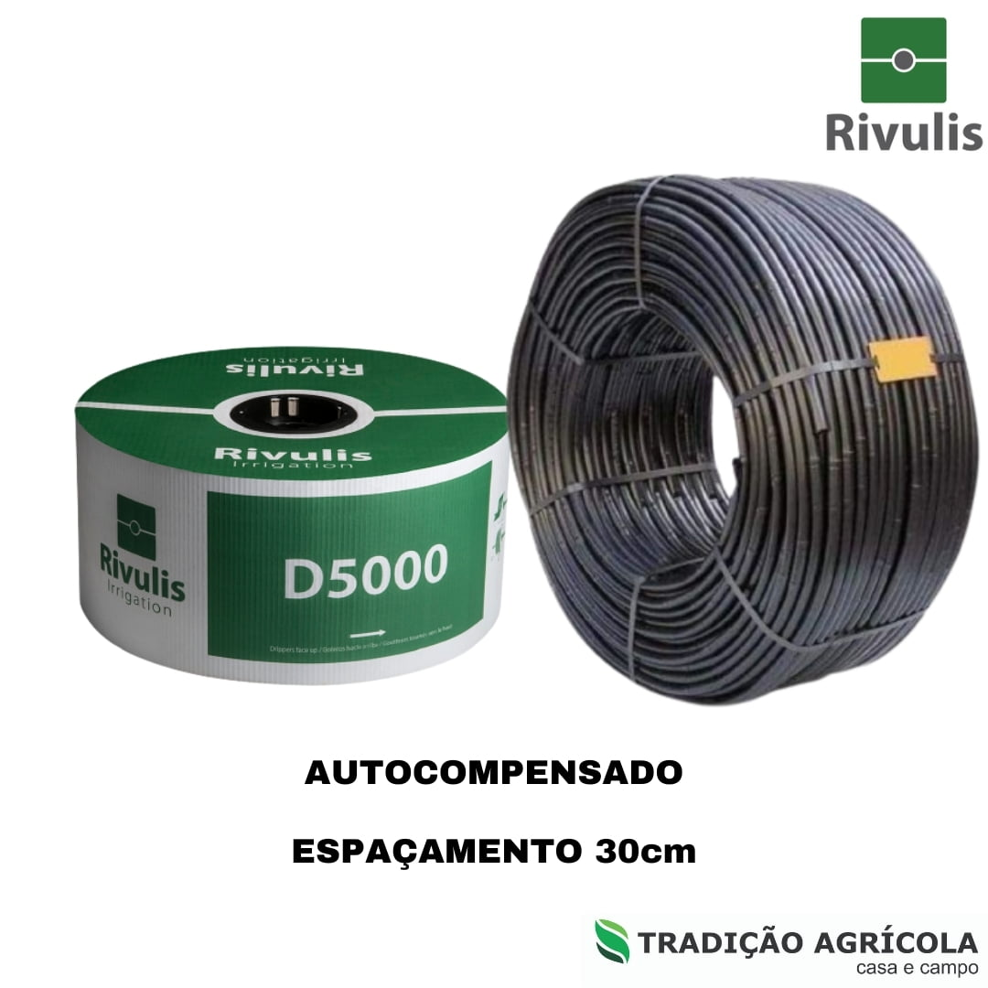 TUBO GOTEJADOR RIVULIS D5000 PC 17/25 2,0L/H - 0,30M (800m)